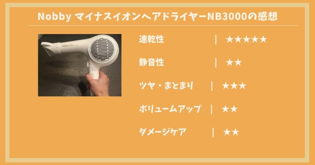ノビードライヤーNB3000のレビュー画像