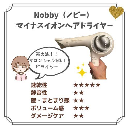 ノビー-イオンヘアドライヤーの口コミ記事の写真