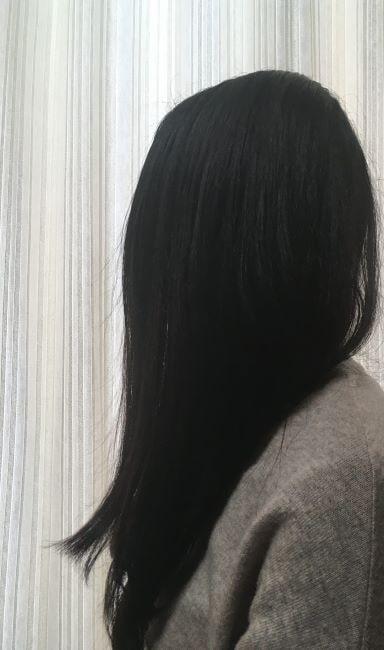 ダイソンドライヤーの美髪効果の写真