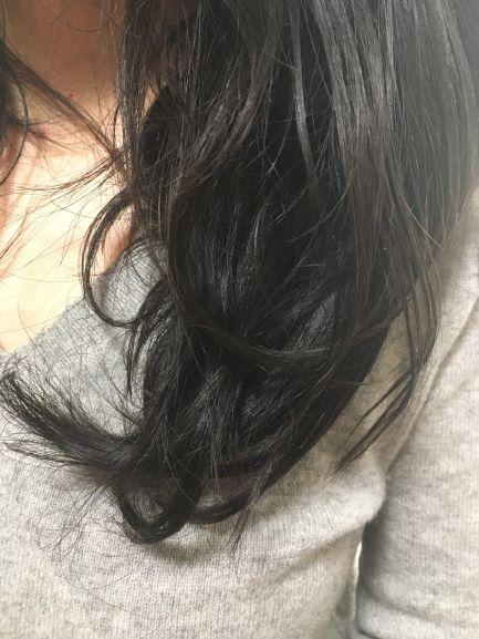 ナノケアの毛先モードの効果の写真