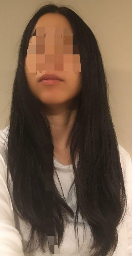 シャープドレープフロードライヤーのサラ髪効果の写真
