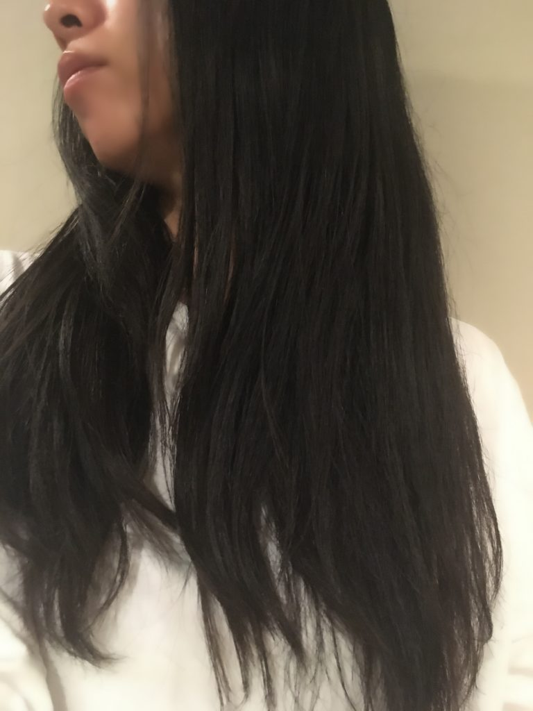 シャープドレープフロードライヤーの毛先効果の写真