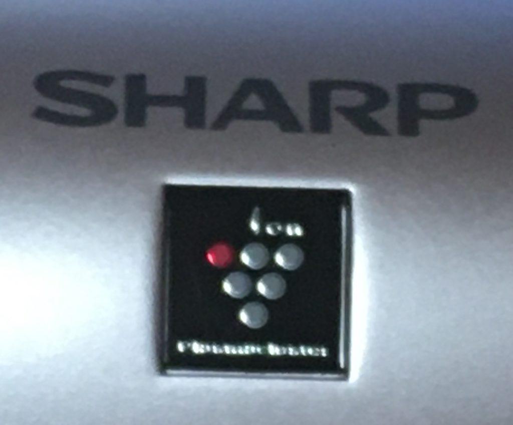 シャープドレープフロードライヤーのプラズマクラスターマークの写真