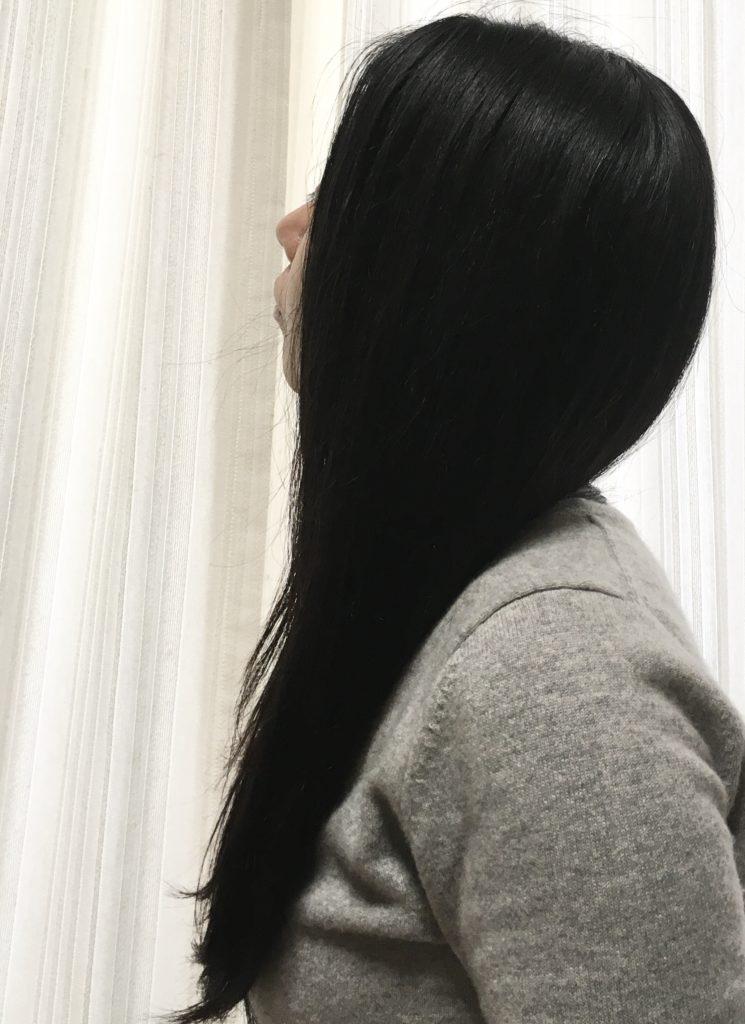 ナノケアドライヤーのサラ艶効果を説明する写真