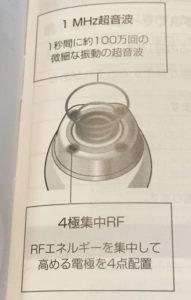 パナソニックRF美顔器の特徴を説明する写真