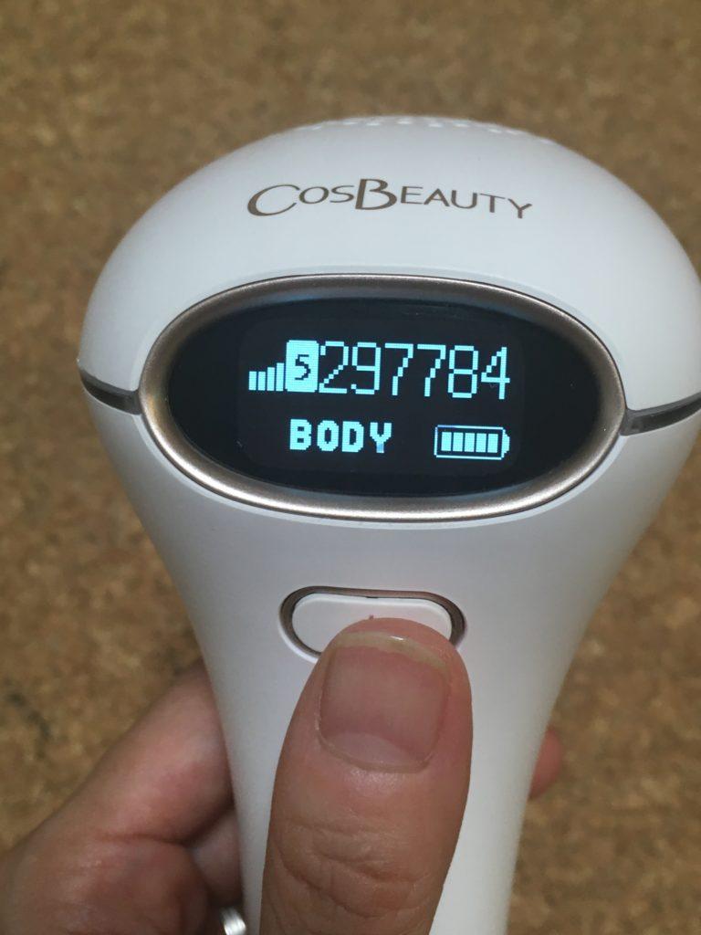 CosbeautyのJOY Version EXのレベル調整をする写真