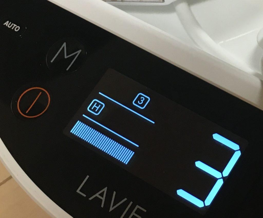 家庭用エステ脱毛器の連即照射モードを選択するAUTOボタンの写真