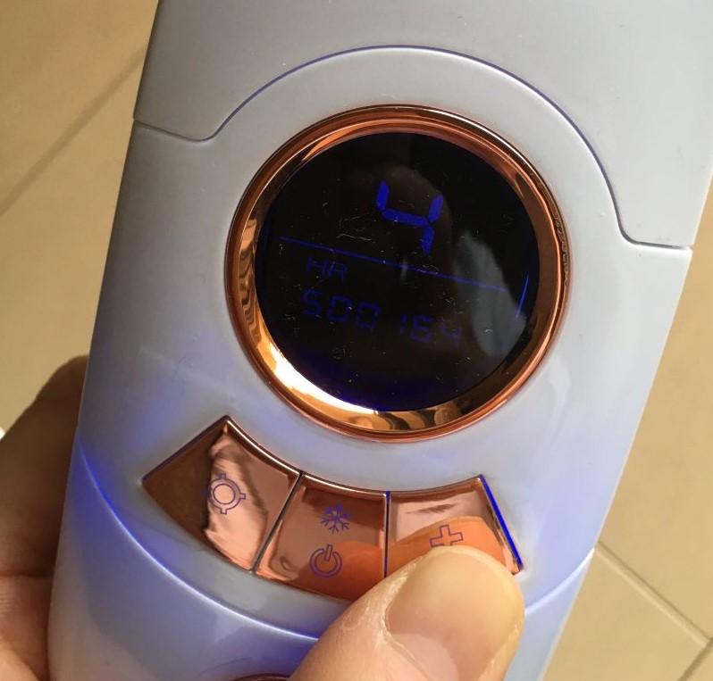 fasiz脱毛器のレベルボタンの写真