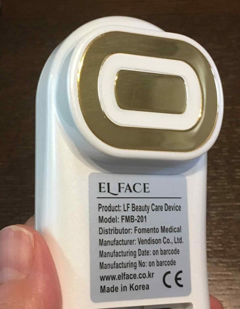エルフェイスの本体電極の写真