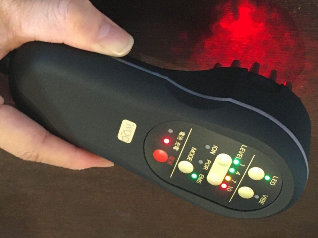 ティレット美顔器のLED機能の写真