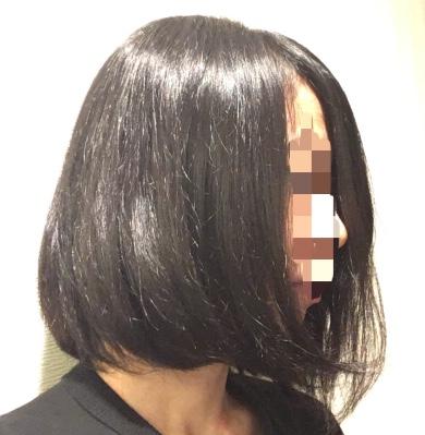 リファストレートアイロンのレア髪写真