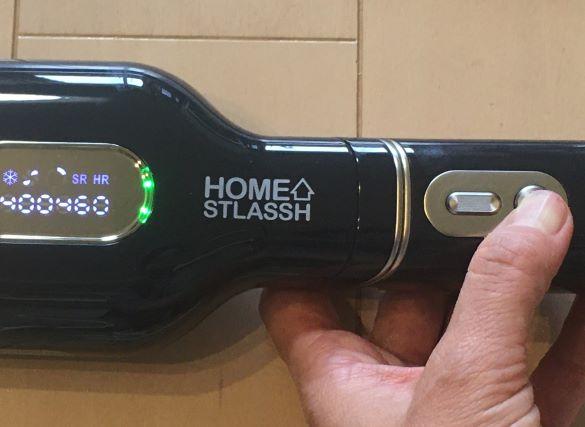 ホームストラッシュ脱毛器の電源ボタンの写真